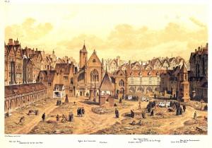 Hoffbauer cimetière des Saints Innocents en 1550