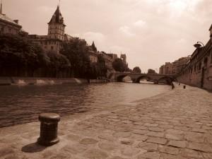 Seine et quai des Orfèvres, depuis le quai Montebello
