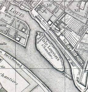 plan deVaugondy ( 1760 ) ile Louviers