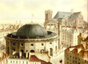 Halle au blé 1838 (Wikipedia)
