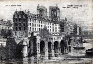 l Hôtel Dieu en 1855