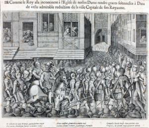 Henri IV allant à Notre-Dame le 22 mars 1594