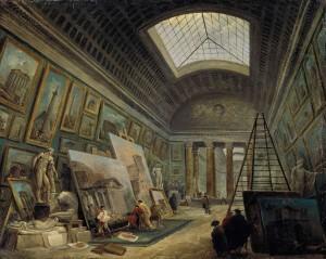 Hubert Robert - Projet d'aménagement de la Grande Galerie (1789)