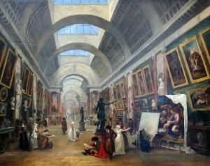 Hubert Robert - Projet d'aménagement de la Grande Galerie du _Louvre (1796)