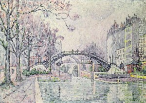 Signac The-Canal-Saint-Martin-1933