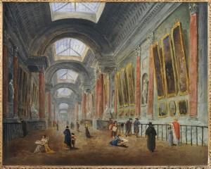 Hubert Robert grande galerie du Louvre