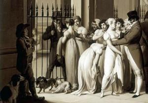 les galerie du Palais-Royal par Boilly 1809