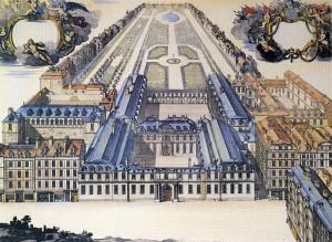 palais-royal par Boissière, en 1679 (Carnavalet)