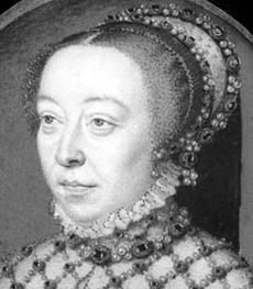 François Clouet Catherine de Medicis 1555 (Londres) NB