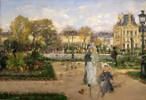Hörmann Aux Tuileries 1888 Belvédère Vienne