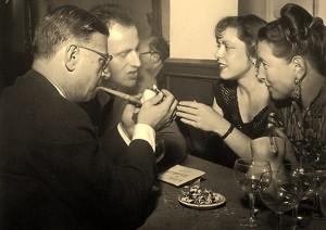 Sartre Beauvoir Vian au Procope 1948