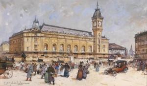 Galien Laloue gare de Lyon 1910