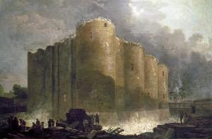 Hubert Robert démolition Bastille (Carnavalet)