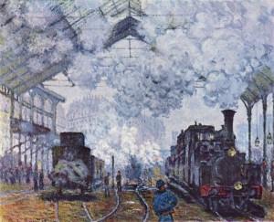 Monet arrivée d'un train gare Saint-Lazare 1877