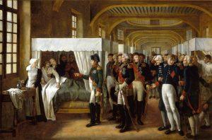 A Veron-Bellecourt - Napoléon visite l'infirmerie des Invalides en 1808 (château Versailles)