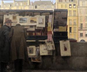 Boutet de Monvel - bouquinistes quai des Grands Augustins 1949 (Carnavalet)