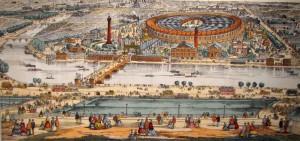 EU 1867 vue du Trocadero