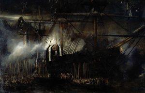 E. Isabey - Le transfert des cendres de Napoléon à bord de La Belle Poule, le 15 octobre 1840 (Versailles)