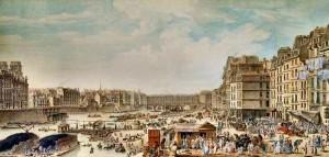 Pont Notre Dame Port au blé 1782 De Lespinasse