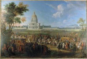 P-D Martin visite Louis 14 aux Invalides en 1706 (Carnavalet)