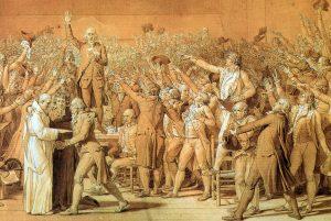 Serment du jeu de paume David 1791 détail
