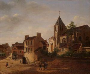 église Saint-Germain de Charonne vers 1830 (Étienne Bouhot, musée Carnavalet)